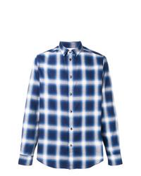 Camisa de manga larga a cuadros azul de Natural Selection