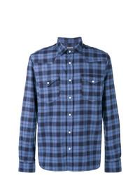 Camisa de manga larga a cuadros azul de Woolrich