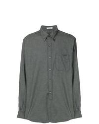 Camisa de manga larga a cuadros en gris oscuro de Engineered Garments