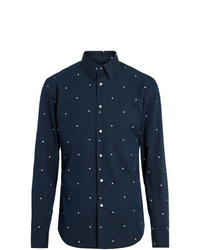 Camisa de manga larga a lunares azul marino de Burberry