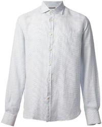Camisa de manga larga a lunares blanca