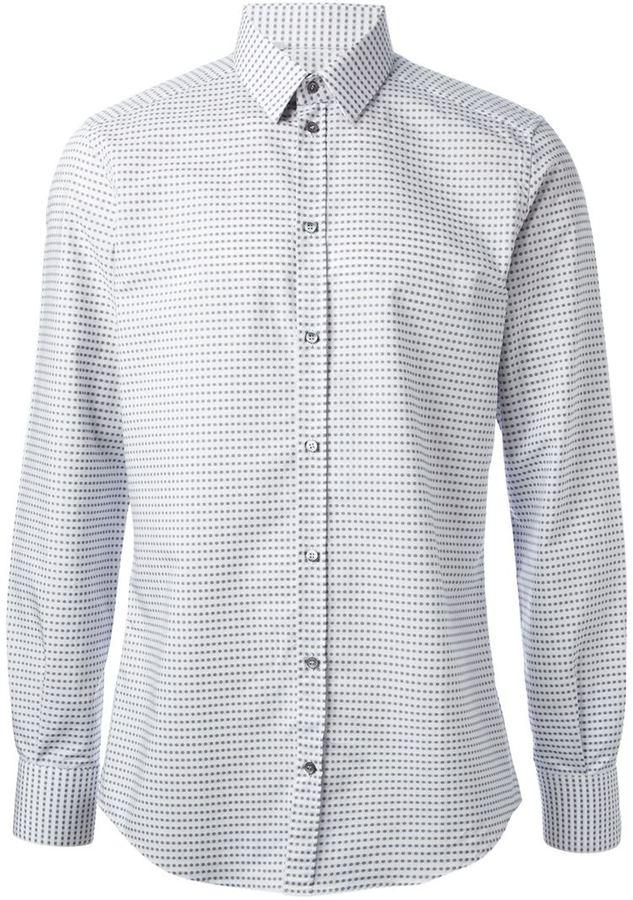 Camisa de Manga Larga a Lunares Blanca de Dolce   Gabbana  dónde ... e4b69a384d