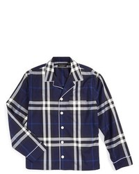 Camisa de Manga Larga Azul Marino de Burberry