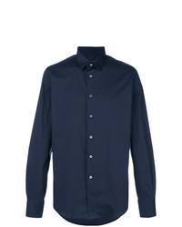 Camisa de manga larga azul marino de Dell'oglio