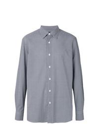 Camisa de manga larga azul marino de Ermenegildo Zegna