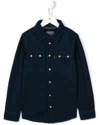 Camisa de manga larga azul marino de Levi's