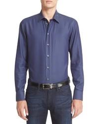 Camisa de Manga Larga Azul de Armani Collezioni
