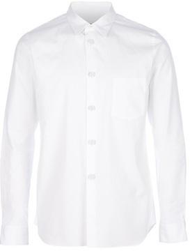 Camisa de manga larga blanca de Comme des Garcons