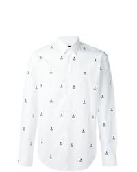 Camisa de manga larga blanca de Fendi