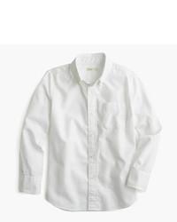 Camisa de Manga Larga Blanca de J.Crew