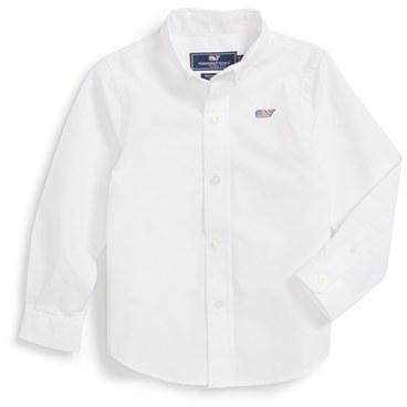 Camisa de manga larga blanca de Vineyard Vines