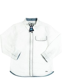 Camisa de manga larga bordada blanca de Little Marc Jacobs