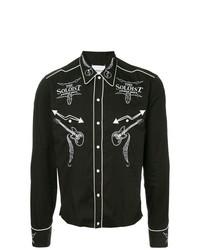 Camisa de manga larga bordada negra de Takahiromiyashita The Soloist