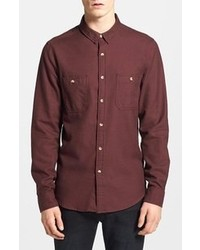 Camisa de manga larga burdeos