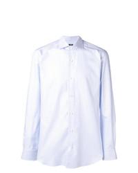 Camisa de manga larga celeste de Barba