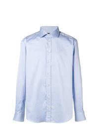 Camisa de manga larga celeste de Emporio Armani
