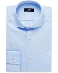 Camisa de manga larga celeste de Hugo Boss