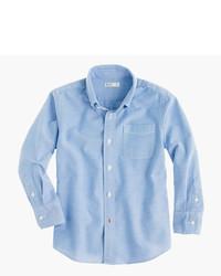 Camisa de manga larga celeste de J.Crew