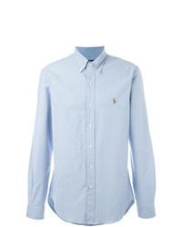 Camisa de manga larga celeste de Polo Ralph Lauren