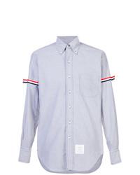 Camisa de manga larga celeste de Thom Browne