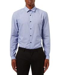 Camisa de manga larga celeste de Topman