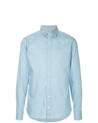 Camisa de manga larga con tachuelas celeste de Kolor