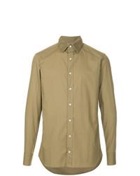Camisa de manga larga con tachuelas marrón claro de Kolor