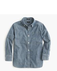Camisa de manga larga de cambray azul de J.Crew