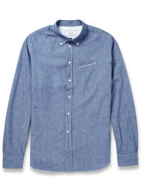 Camisa de manga larga de cambray azul de Officine Generale
