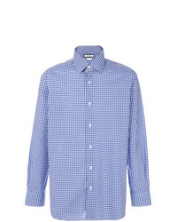 Camisa de manga larga de cuadro vichy azul de Fashion Clinic Timeless