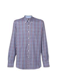 Camisa de manga larga de cuadro vichy azul de Paul & Shark