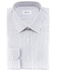 Camisa de Manga Larga de Cuadro Vichy Blanca de Brioni