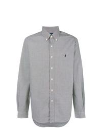 Camisa de manga larga de cuadro vichy negra de Ralph Lauren