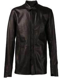 Camisa de manga larga de cuero negra de Alexandre Plokhov