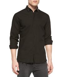 Camisa de manga larga de cuero negra de IRO