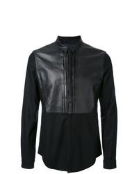 Camisa de manga larga de cuero negra de Juun.J