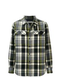 Camisa de manga larga de franela a cuadros en gris oscuro de Holland & Holland