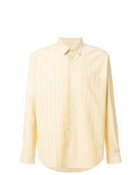 Camisa de manga larga de rayas verticales amarilla de AMI Alexandre Mattiussi