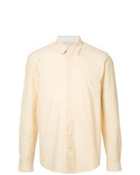 Camisa de manga larga de rayas verticales amarilla de Cerruti 1881