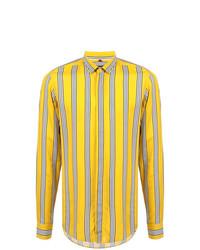 Camisa de manga larga de rayas verticales amarilla de Lords And Fools