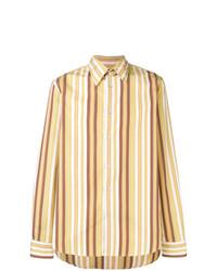 Camisa de manga larga de rayas verticales amarilla de Marni