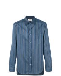 Camisa de manga larga de rayas verticales azul marino de Maison Margiela