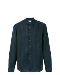 Camisa de manga larga de rayas verticales azul marino de TOMORROWLAND