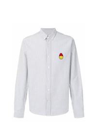 Camisa de manga larga de rayas verticales blanca de AMI Alexandre Mattiussi
