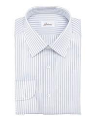 Camisa de manga larga de rayas verticales blanca de Brioni
