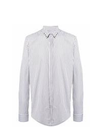 Camisa de manga larga de rayas verticales blanca de Les Hommes