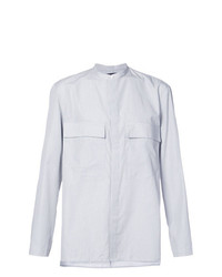 Camisa de manga larga de rayas verticales blanca de Siki Im