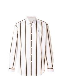 Camisa de manga larga de rayas verticales blanca de Vivienne Westwood Anglomania
