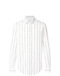 Camisa de manga larga de rayas verticales blanca de Vivienne Westwood MAN