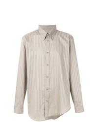 Camisa de manga larga de rayas verticales en beige de Martine Rose